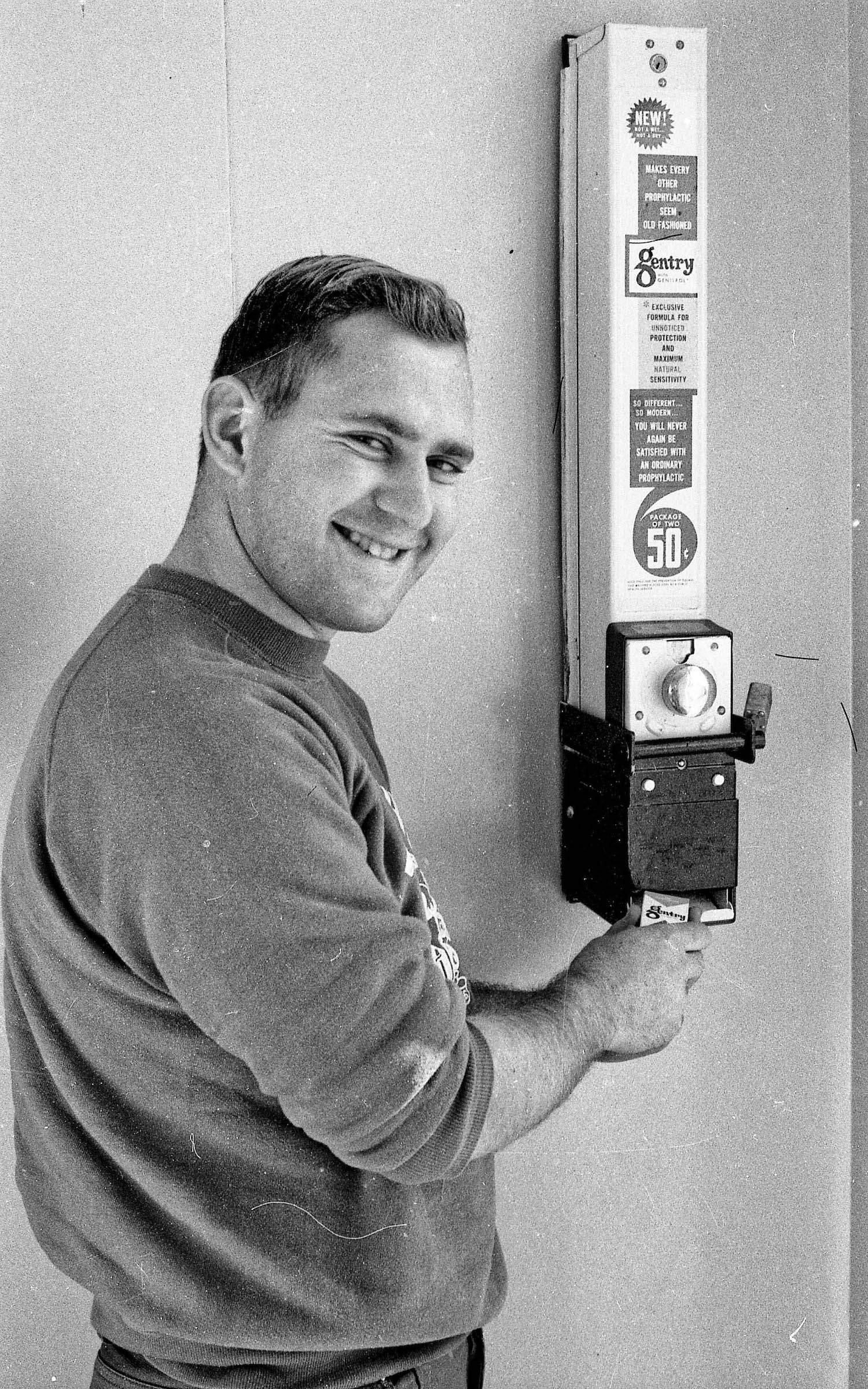 Herb and condom dispenser circa 1964