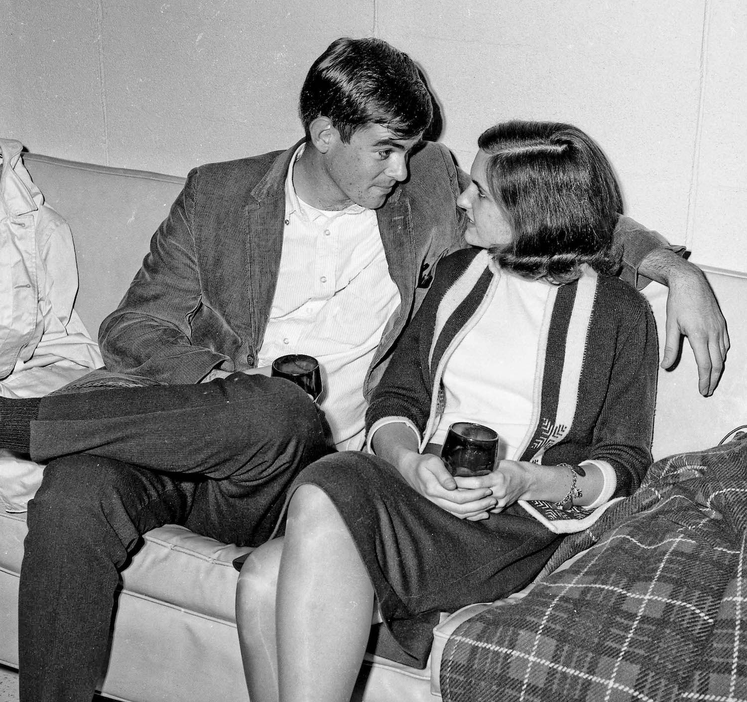 Nov 16th, 1963--Post Game Party, John and friend--Fresno State College