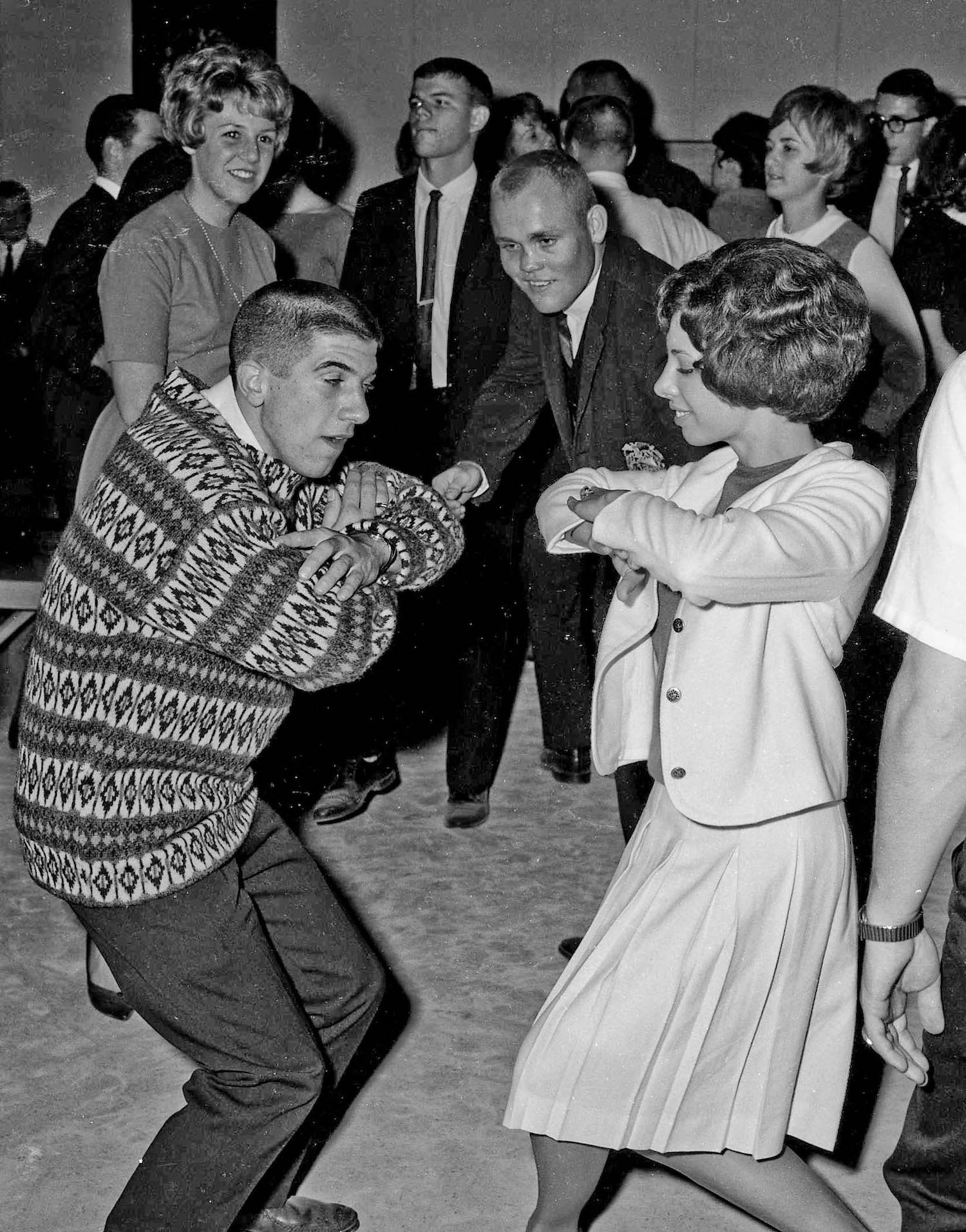 Nov 16th, 1963--Post Game Party, Rich & dance partner--Fresno State College