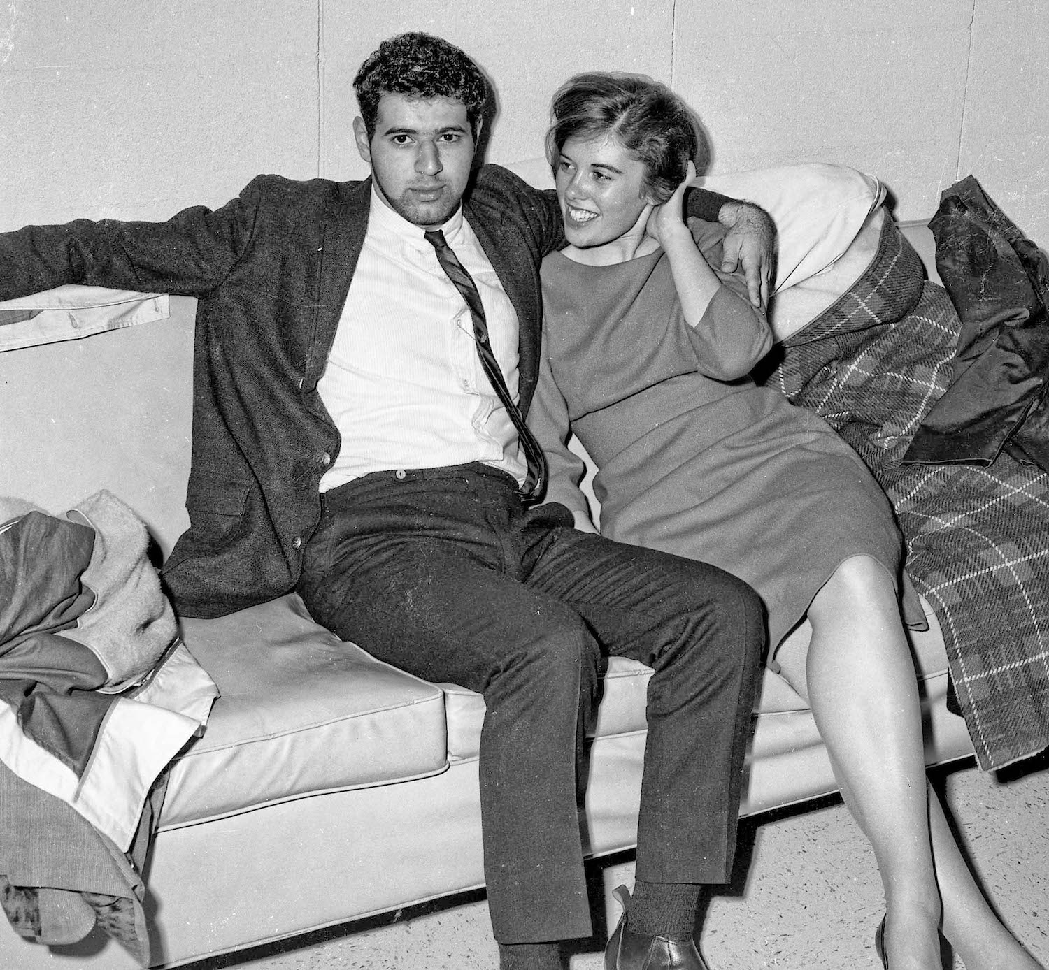 Nov 16th, 1963--Post Game Party, Sam and friend--Fresno State College
