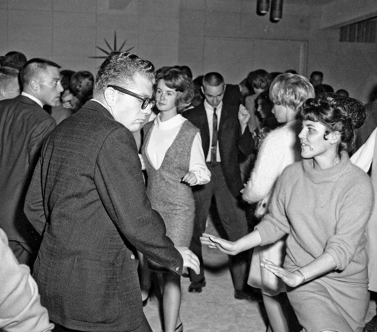 Dennis & Rita at post game party--Nov 16th, 1963--Fresno State College