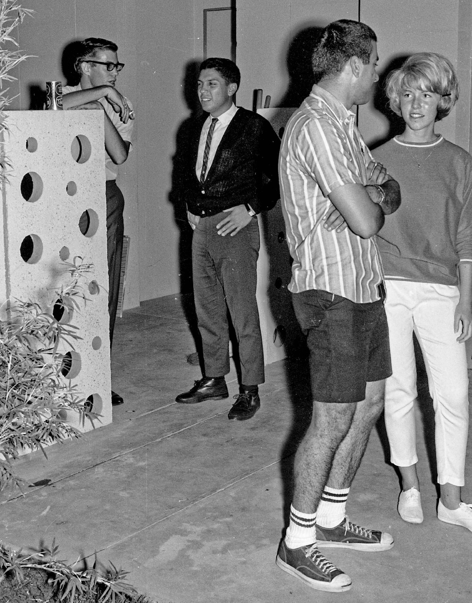 Casual dance party circa 1965, Fresno State College