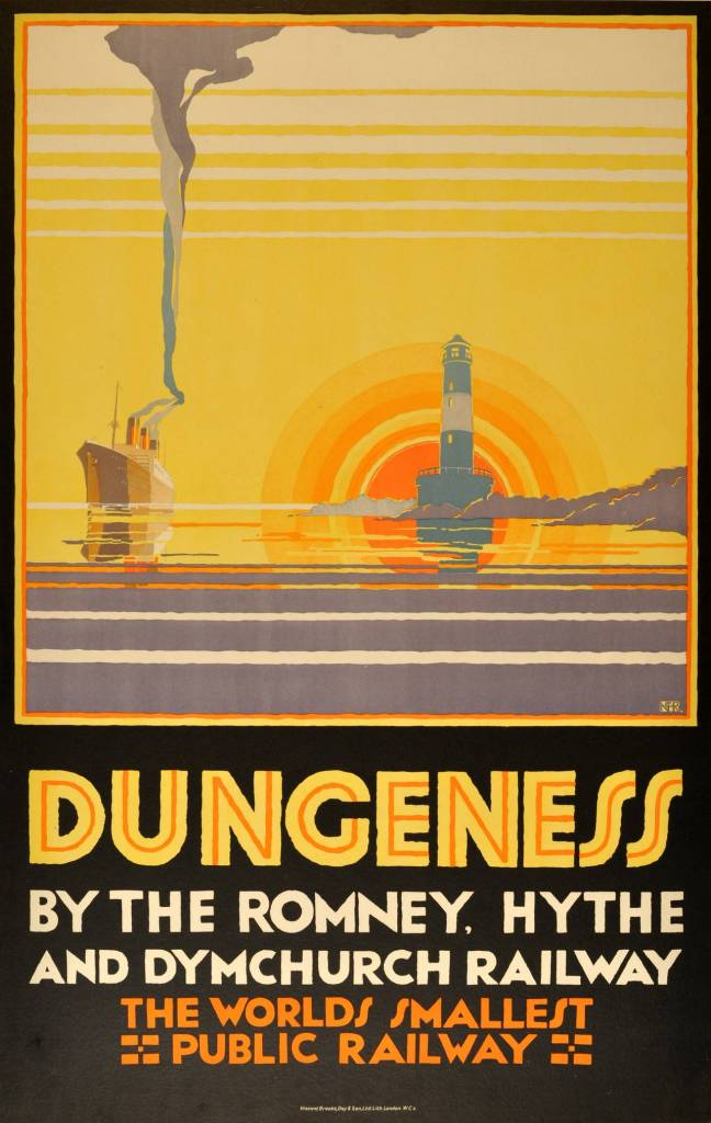 Dungeness Kent By The Romney, Hythe & Dymchurch Railway by N. Cramer Roberts c 1929