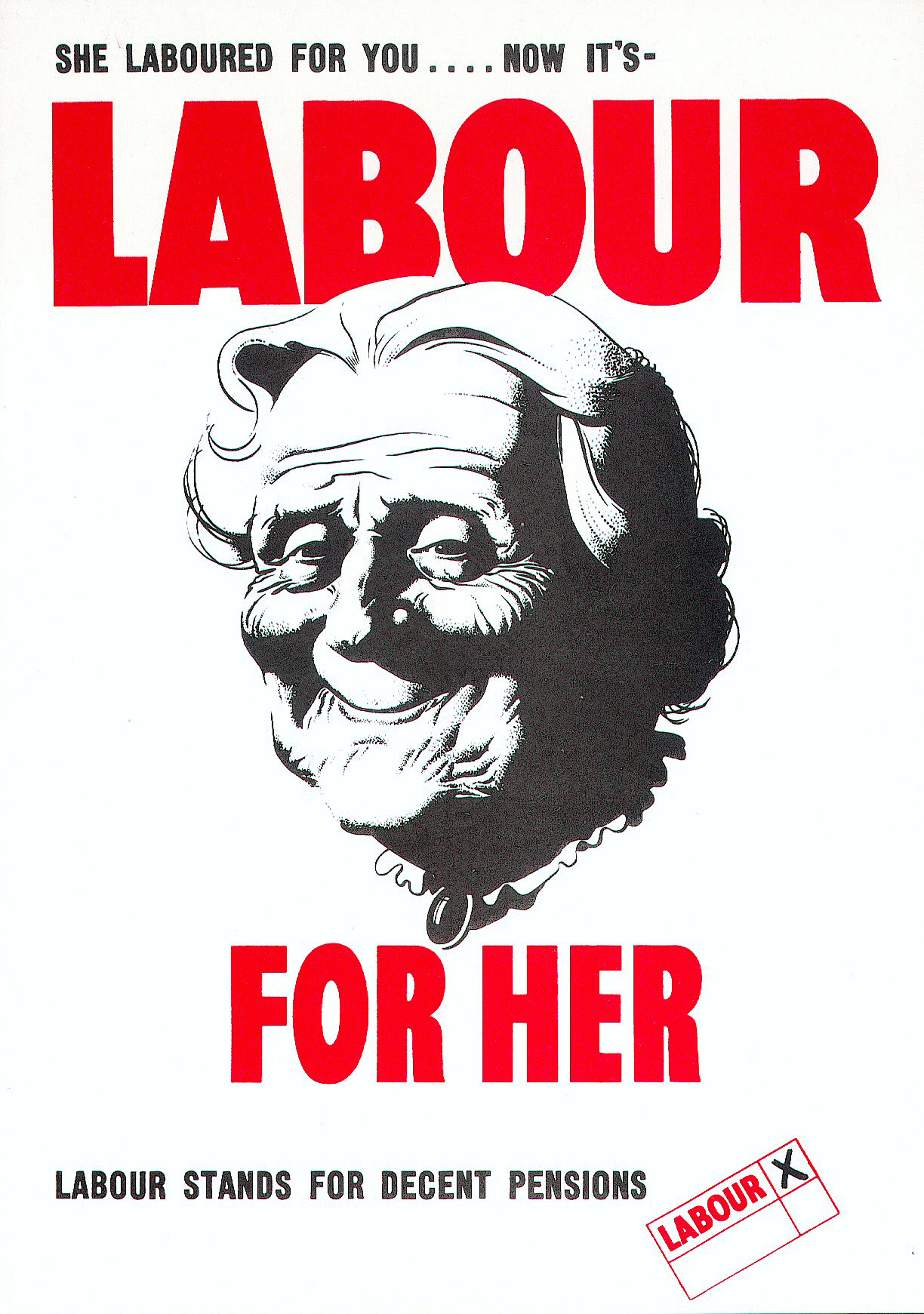 Labour For Her Historic Labour Poster From The 1945