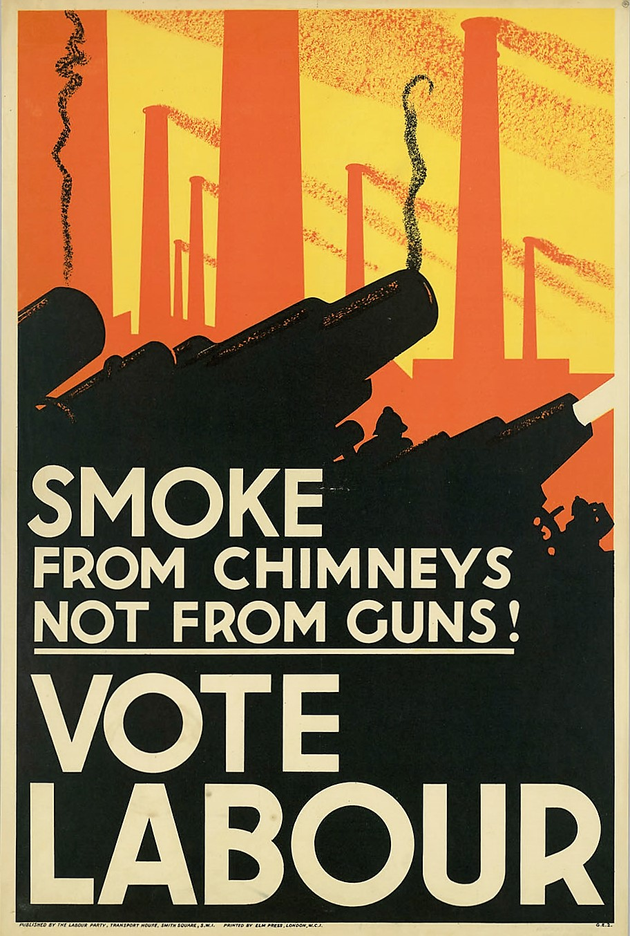 Labour Party Poster 1935 Flashbak