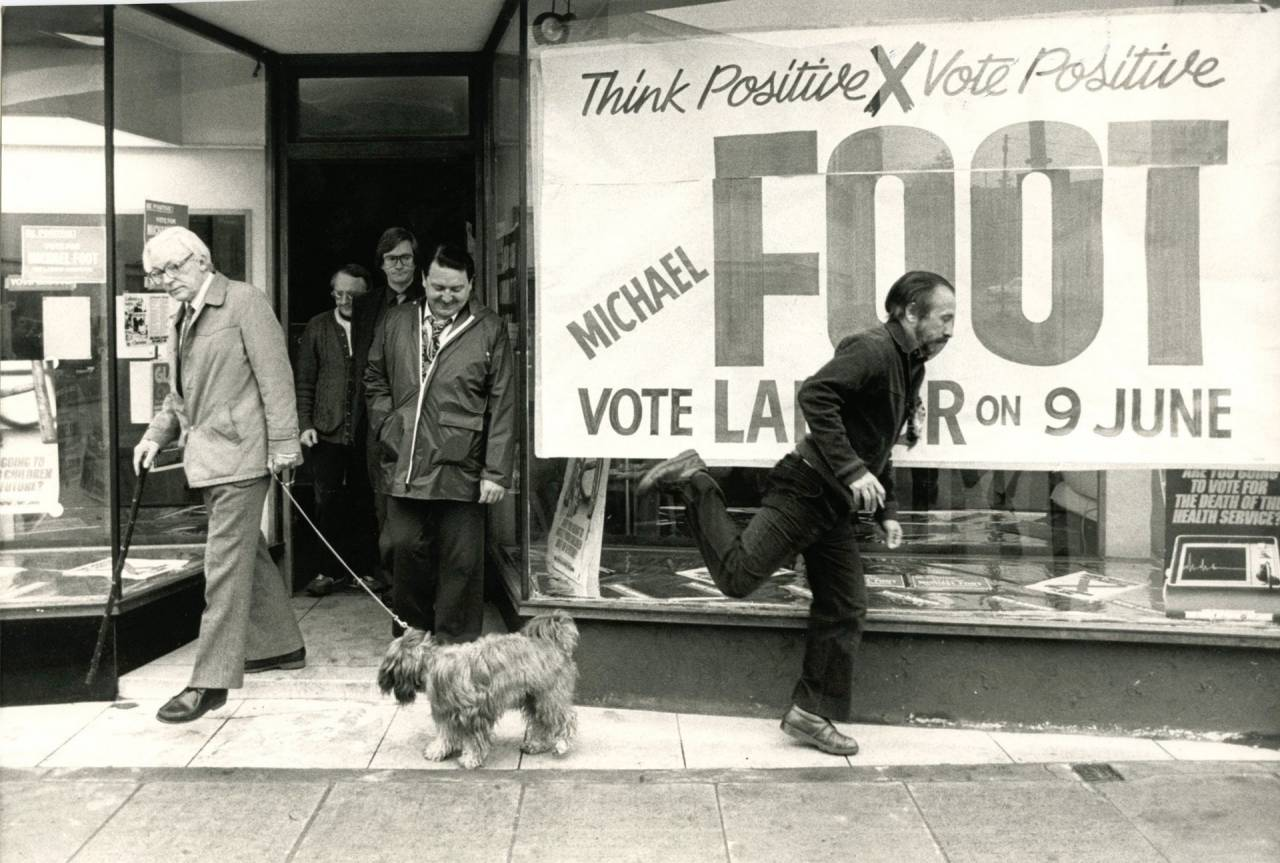 Michael Foot campaigning in 1983