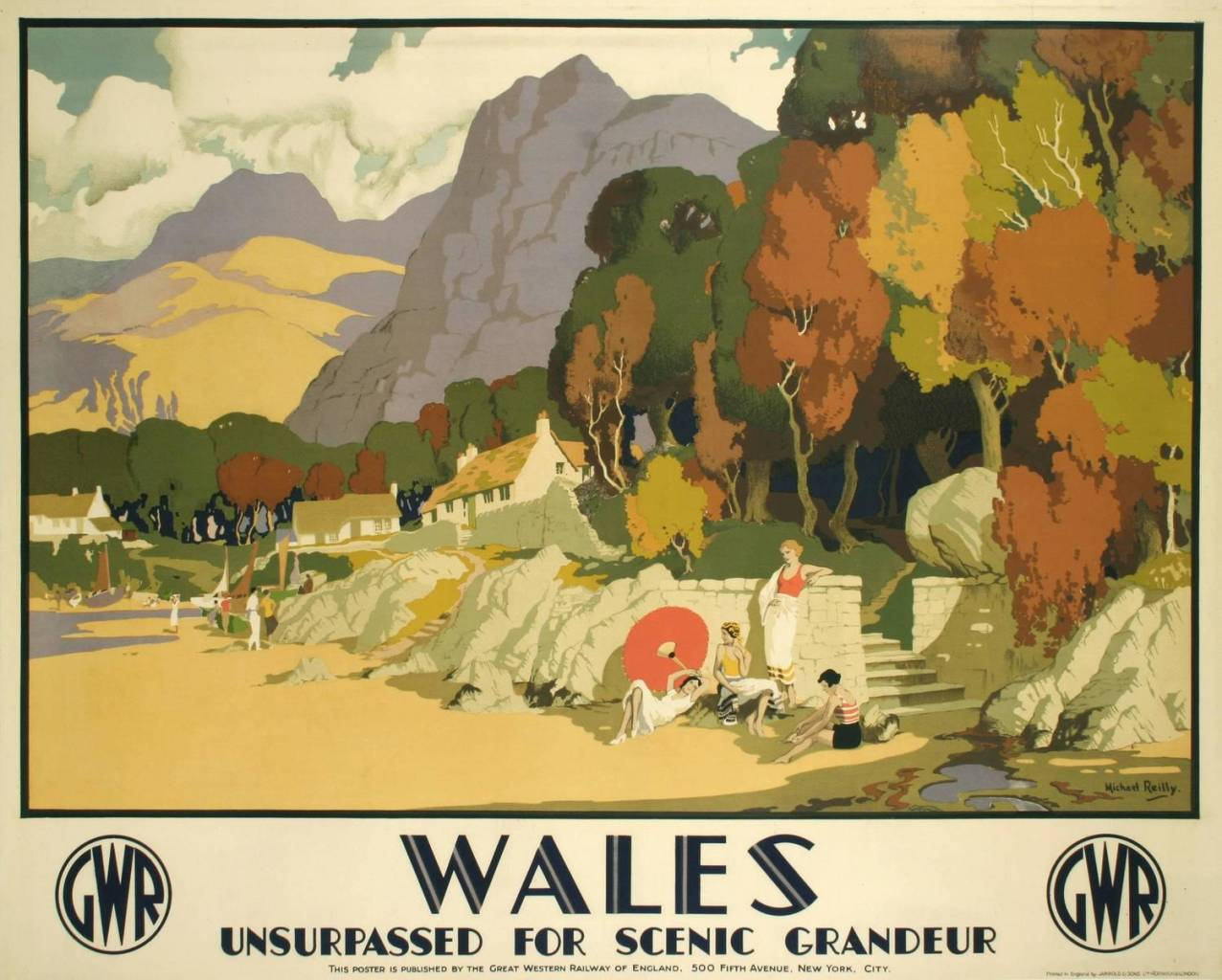 British Railway Poster by Michael Reilly, circa 1930