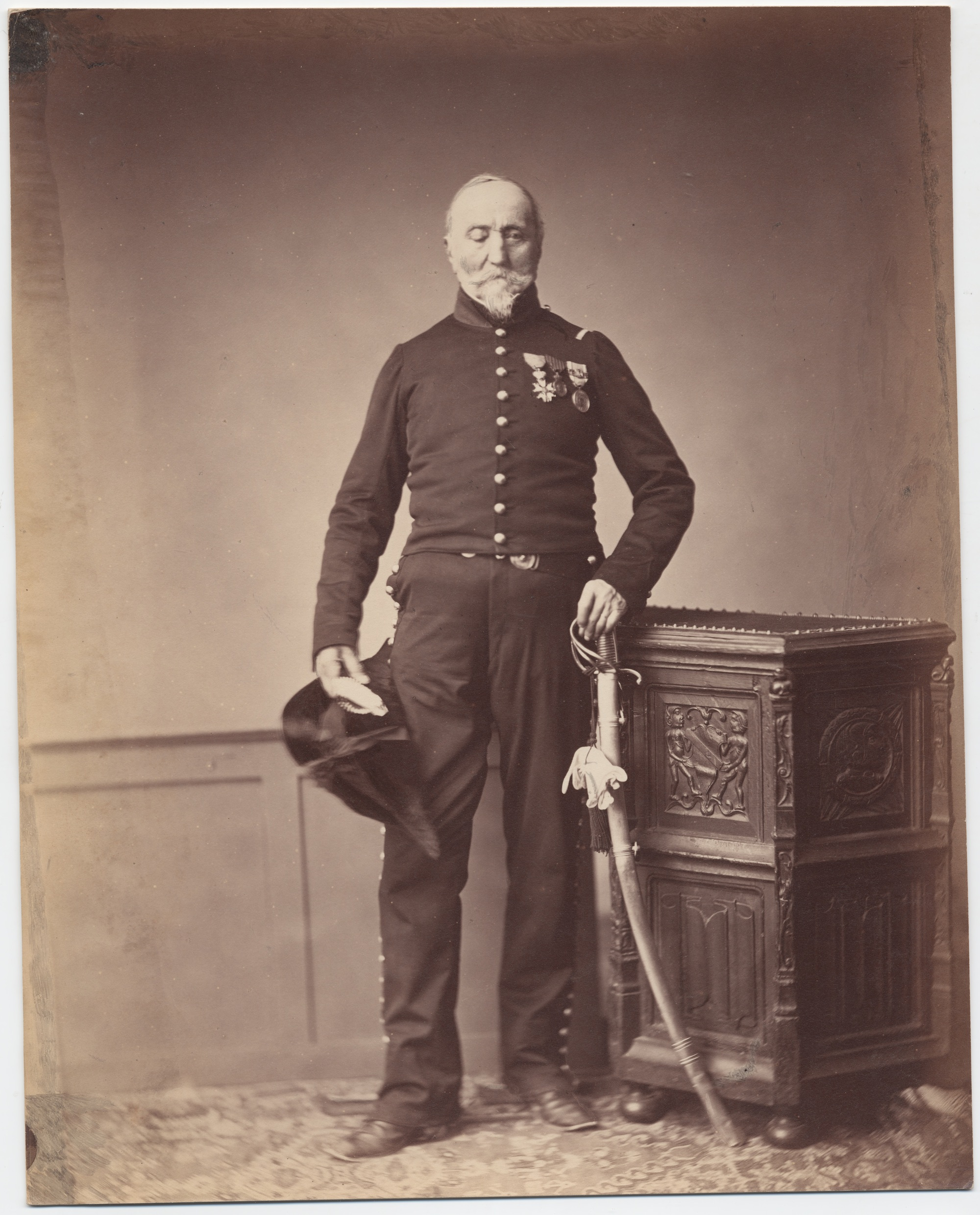 Monsieur Loria, 24th Mounted Chasseur, Regiment Chevalier of the Legion of Honor. Monsieur Loria seems to have lost his right eye.