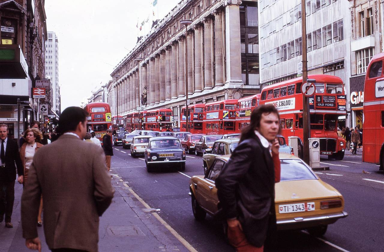 Selfridges, Oxford Street, London 1972