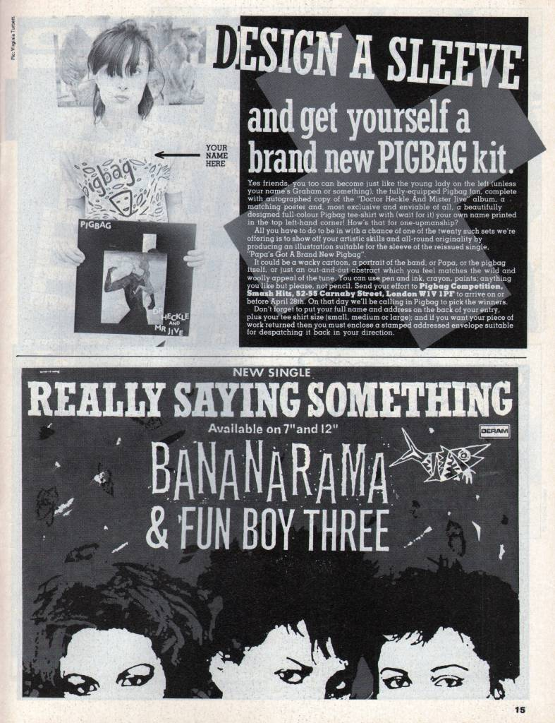 Smash Hits, April 15, 1982 - p.15 Ad for Really Saying Something