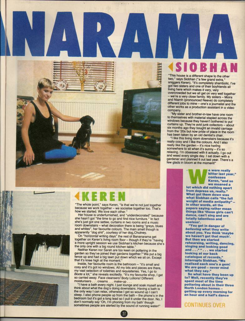 Smash Hits, August 28, 1985 - p.27 A Few Home Truths 2