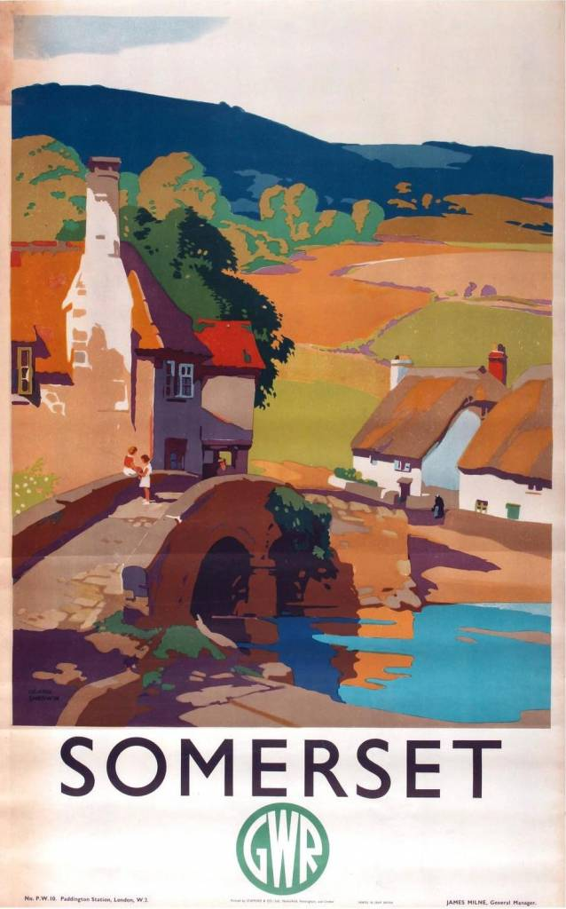 Somerset by GWR Frank Sherwin c.1930