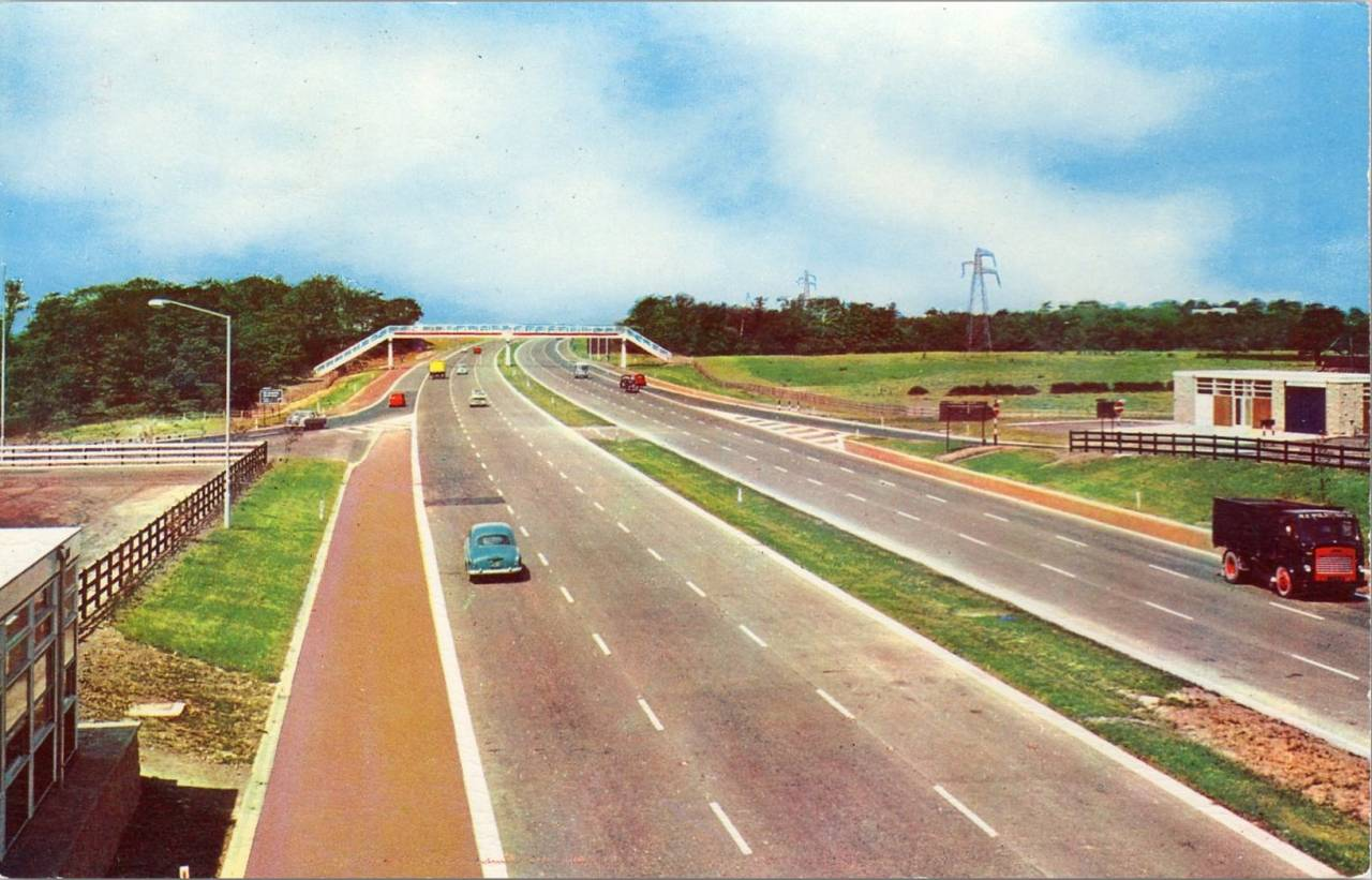 The New M6 Motorway Near Preston