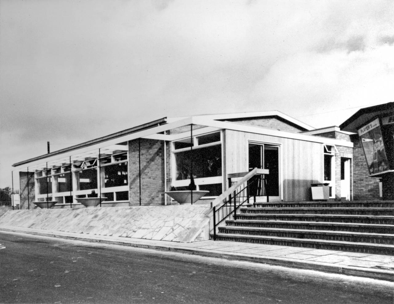 The original building at Watford Gap, taken not long after it was built.