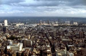 View from the Post Office Tower, London 1970 a