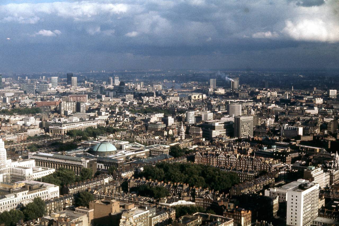 View from the Post Office Tower, London 1970 c