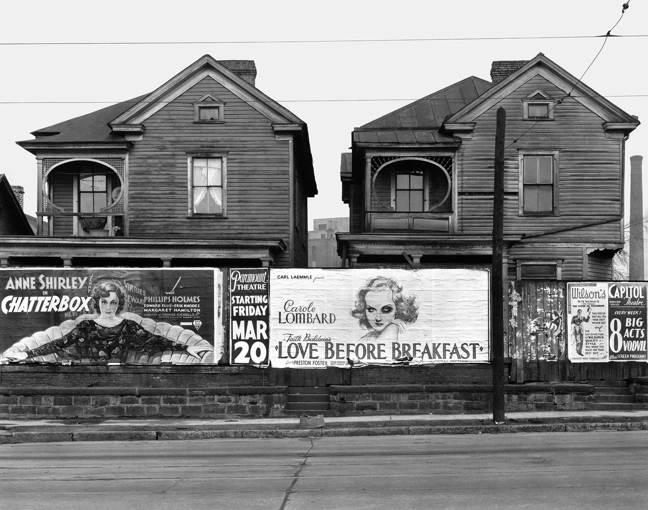 Walker Evans, Houses and Billboards