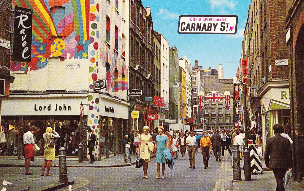 carnaby street postcards 1960s