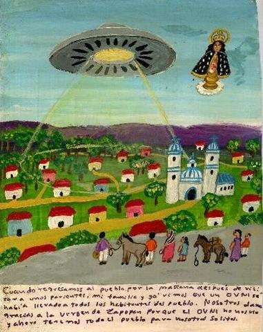 When my family and I came back from our relatives to our village, we discovered that all the inhabitants had been abducted by an UFO. We thank the Virgin of Zapopan because the UFO didn't notice us, so now we had the entire village in our disposal.