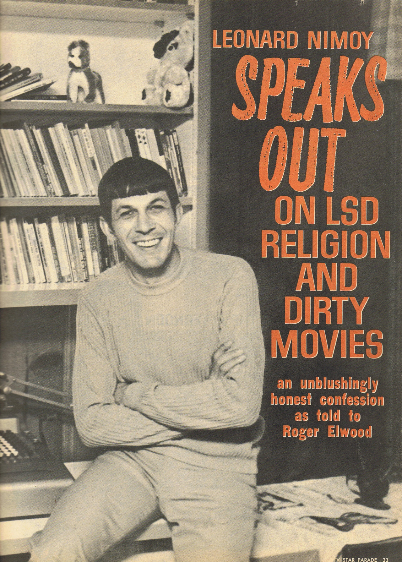 Leonard Nimoy Speaks Out on LSD, Religion and Dirty Movies