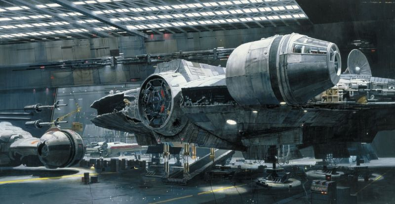 star wars matte paintings q