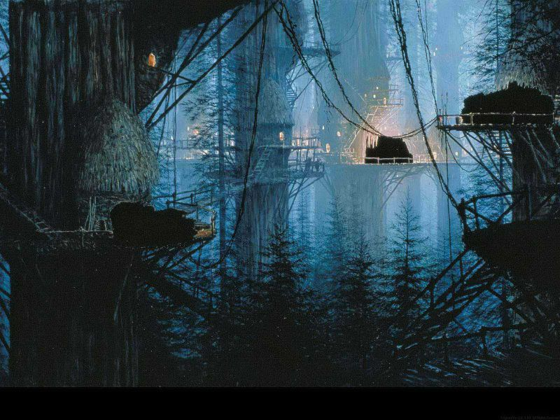 star wars matte paintings y