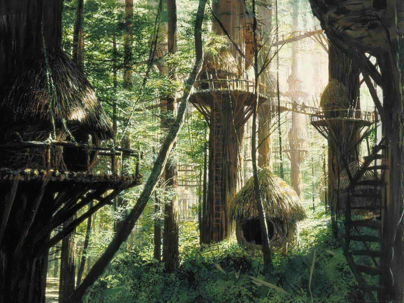 star wars matte paintings z
