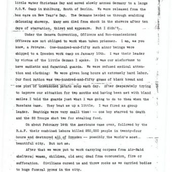 POW Kurt Vonnegut Writes Home From World War II: 'The RAF Bombed Our Unmarked Train'