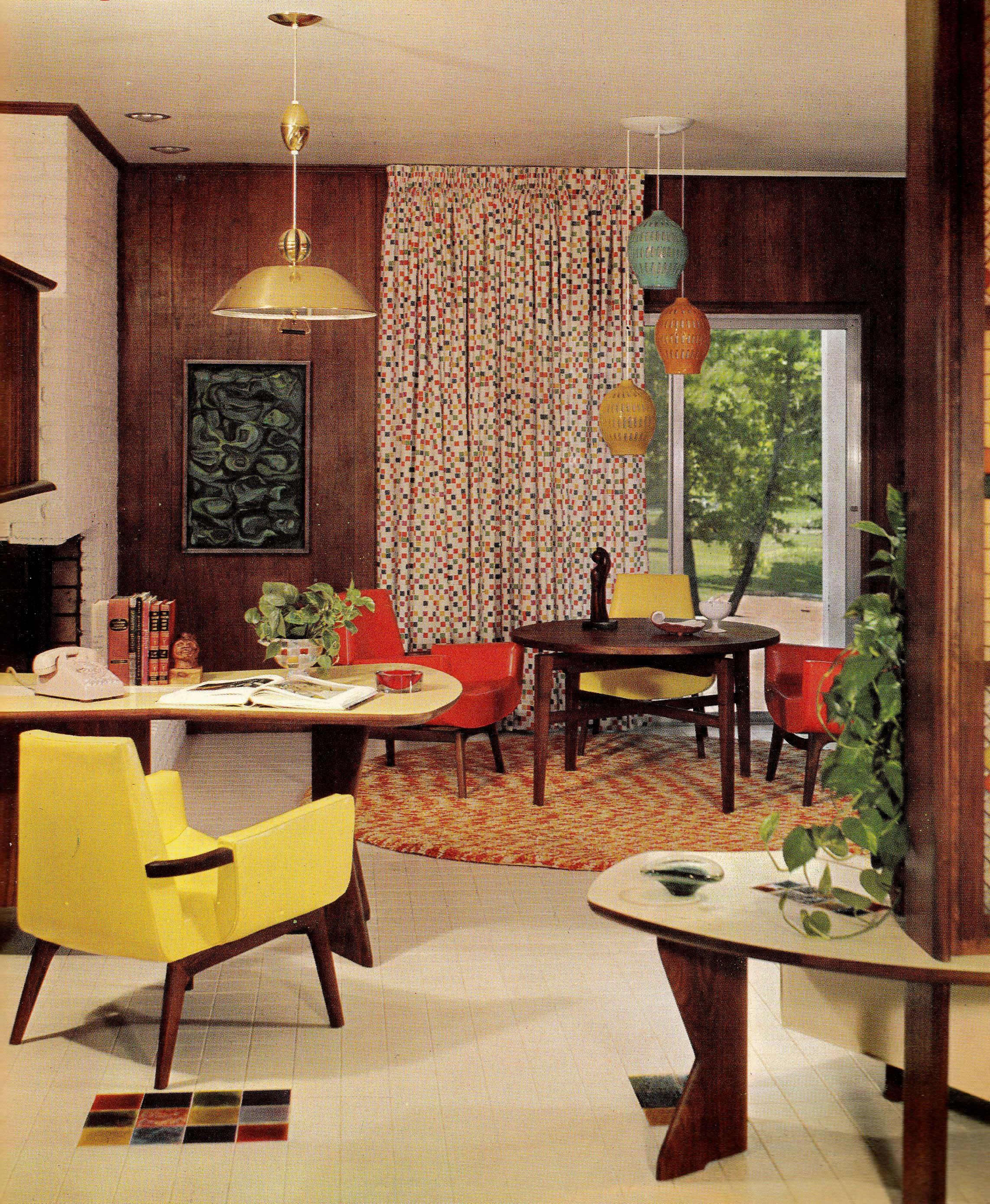 65 Cool Mid Century Living Room Decor Ideas: Home '65: A Groovy Look At Mid-Sixties Interior Décor