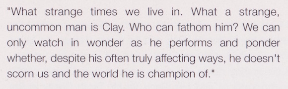 From Champion As Long As He Wants, Gilbert Rogin, Sports Illustrated, November 29, 1965