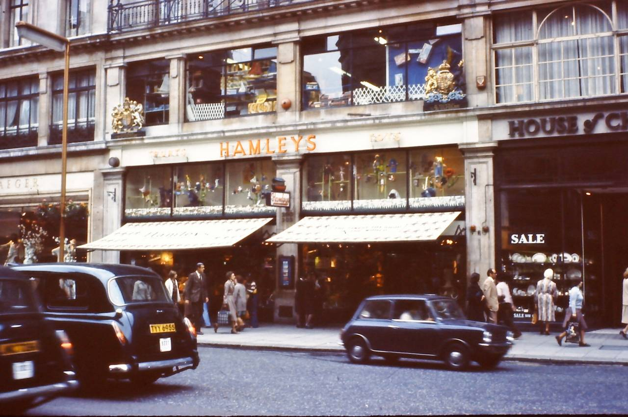 Hamley's on Regent Street, 1978