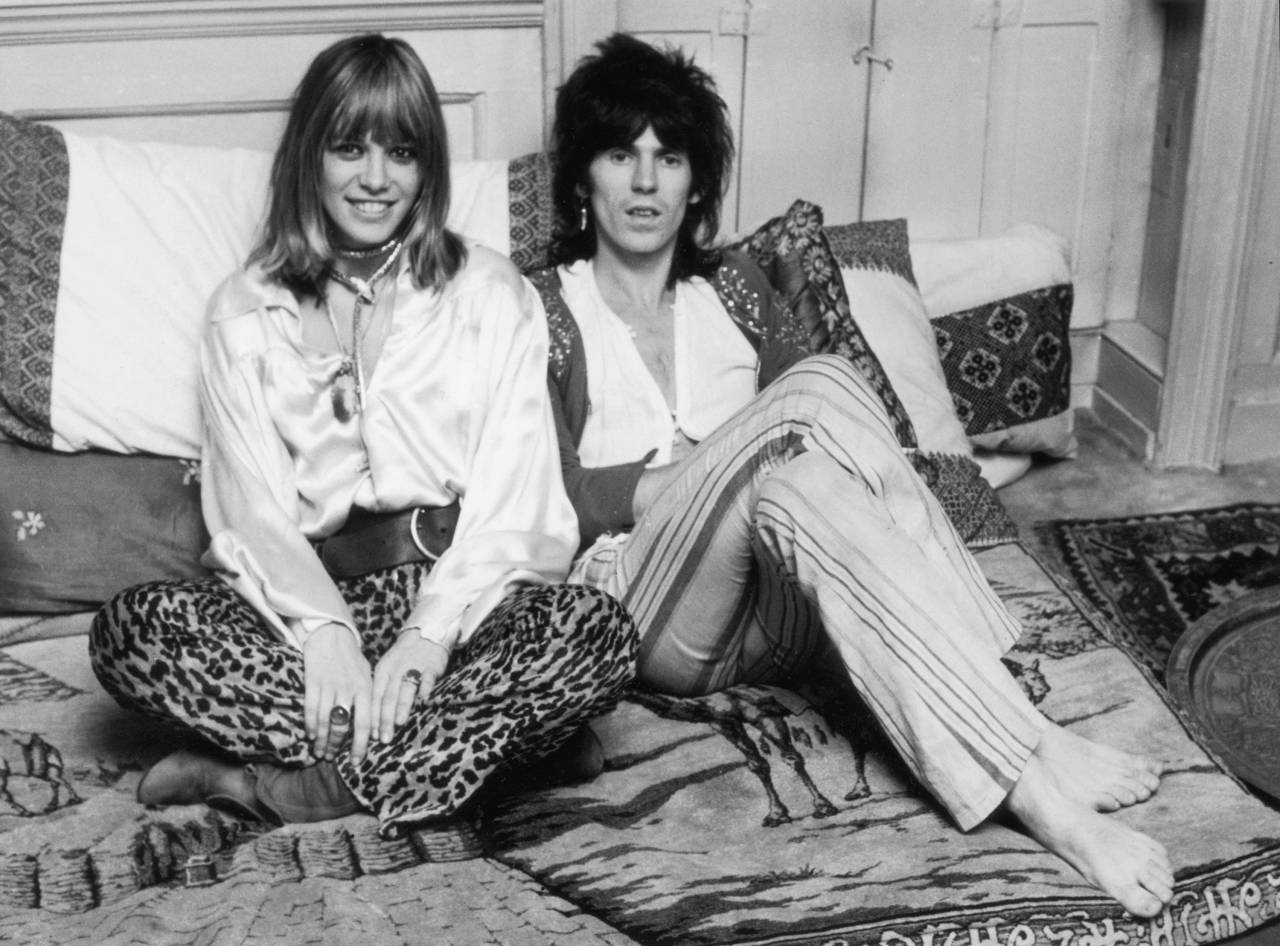 Keith Richards and his girlfriend Anita Pallenberg, December 9th 1969.