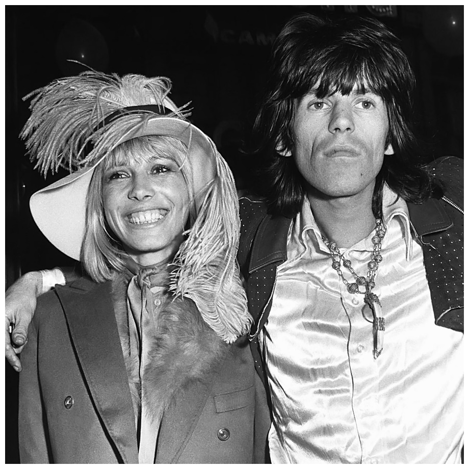 Keith Richards of The Rolling Stones at the London premiere of the Beatles film Yellow Submarine with his girlfriend Anita Pallenberg 1968