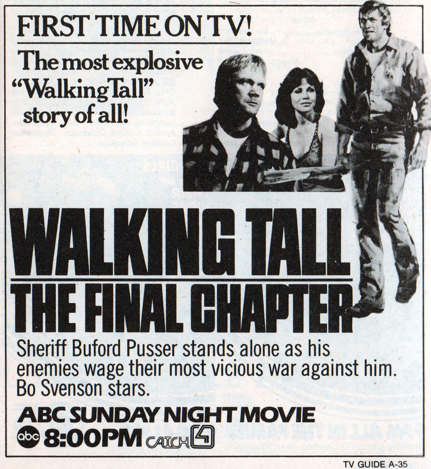 1978 Walking Tall TV Guide Ad