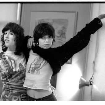 Chrissie Hynde and Kate Simon Wear Malcolm McLaren's Sex Pistols Smoking Boy Tees