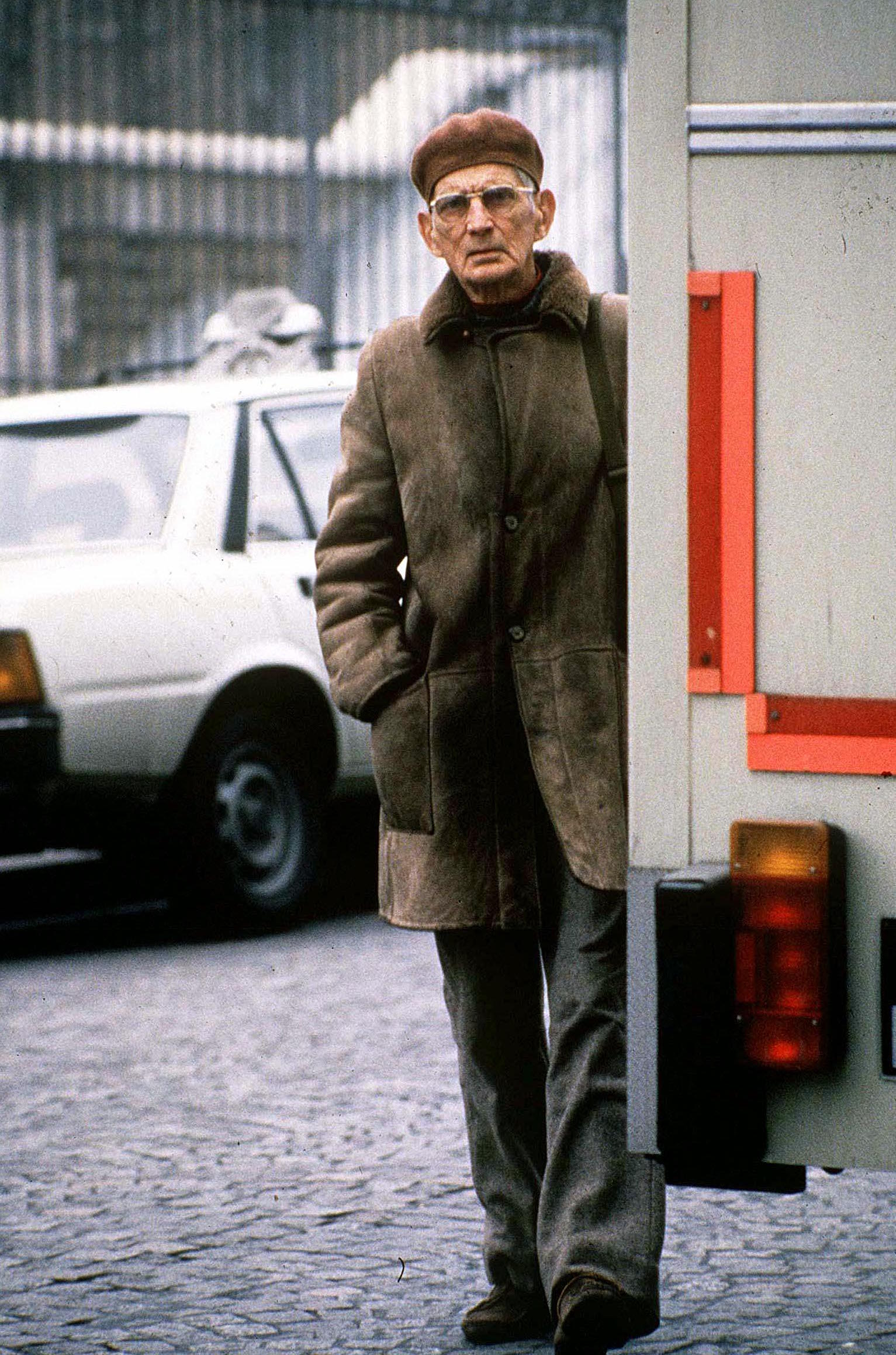 SAMUEL BECKETT, PARIS, FRANCE - APR 1986