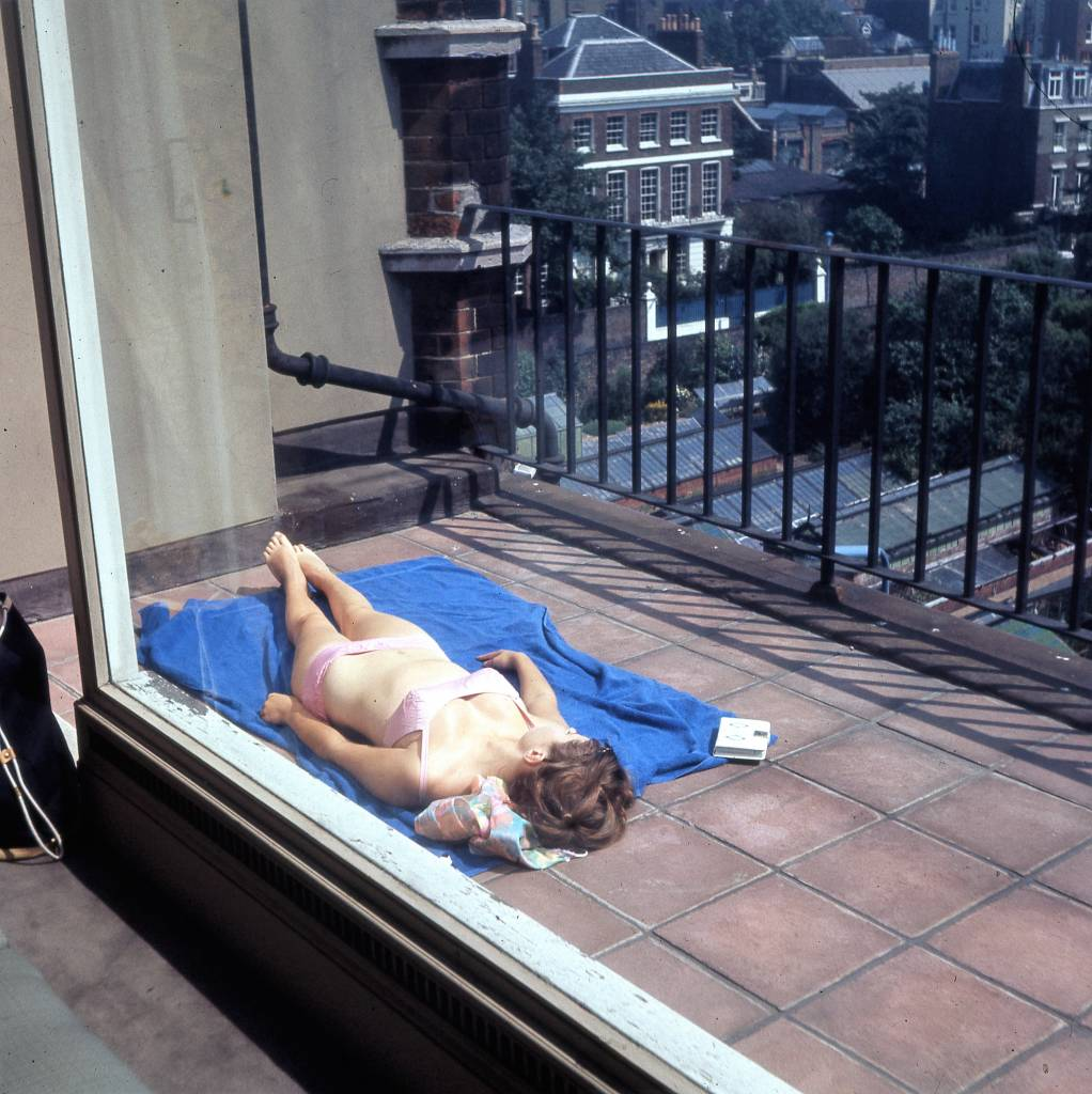Sunbathing....Cheyne Place, London 1965