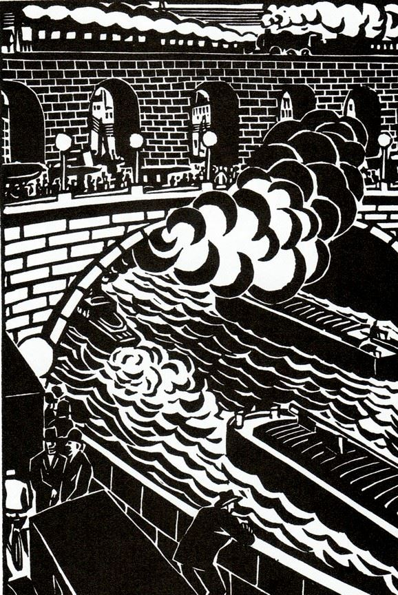 The (1925): Novel Timeless City - In Flashbak Woodcuts A