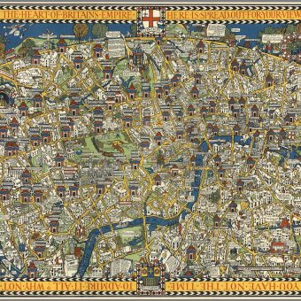 The Famous Wonderground Map of London Town Made Time Travel Possible (1914)