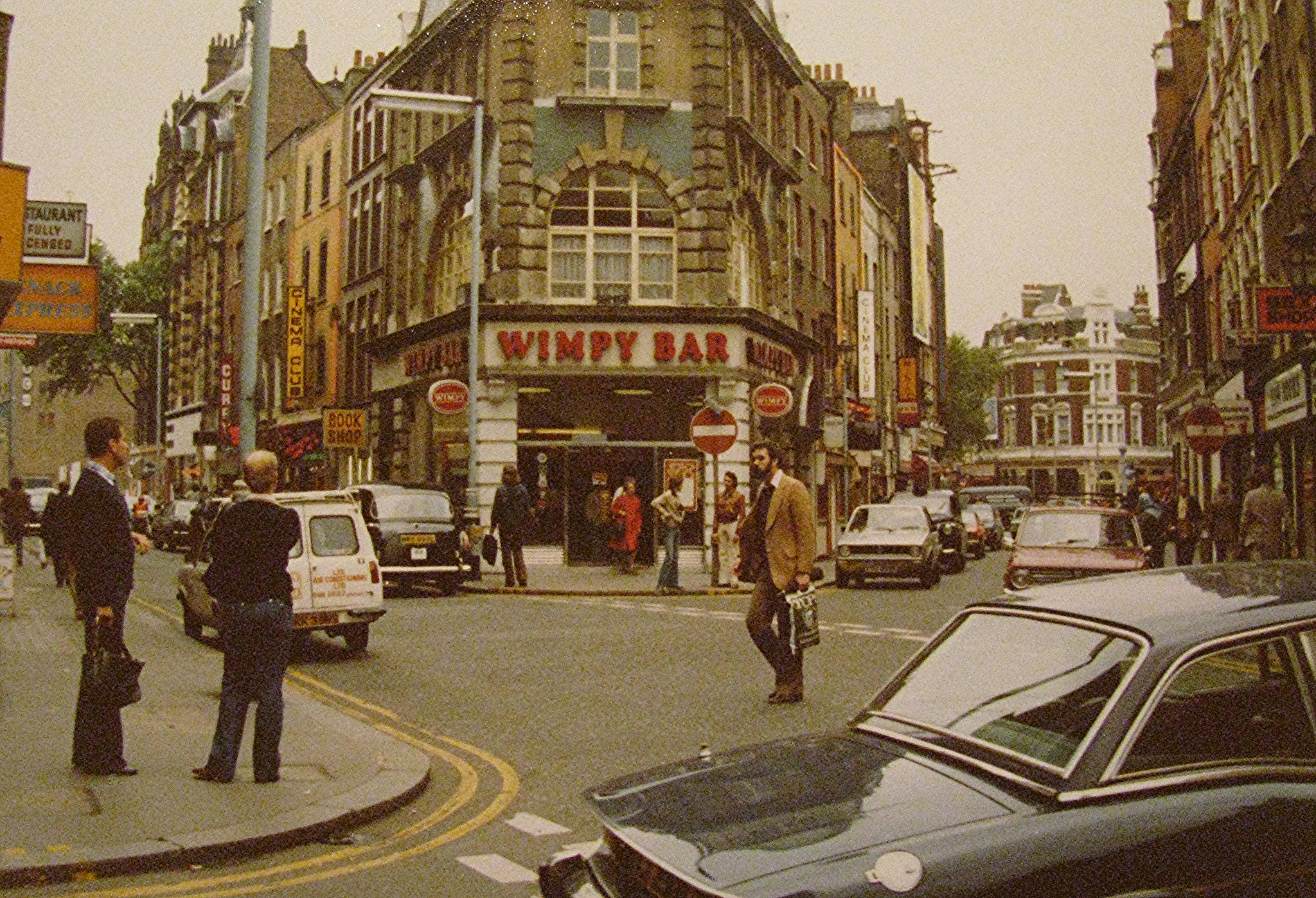 Wimpy on junction of Old Compton St and Moor Street, London 1978