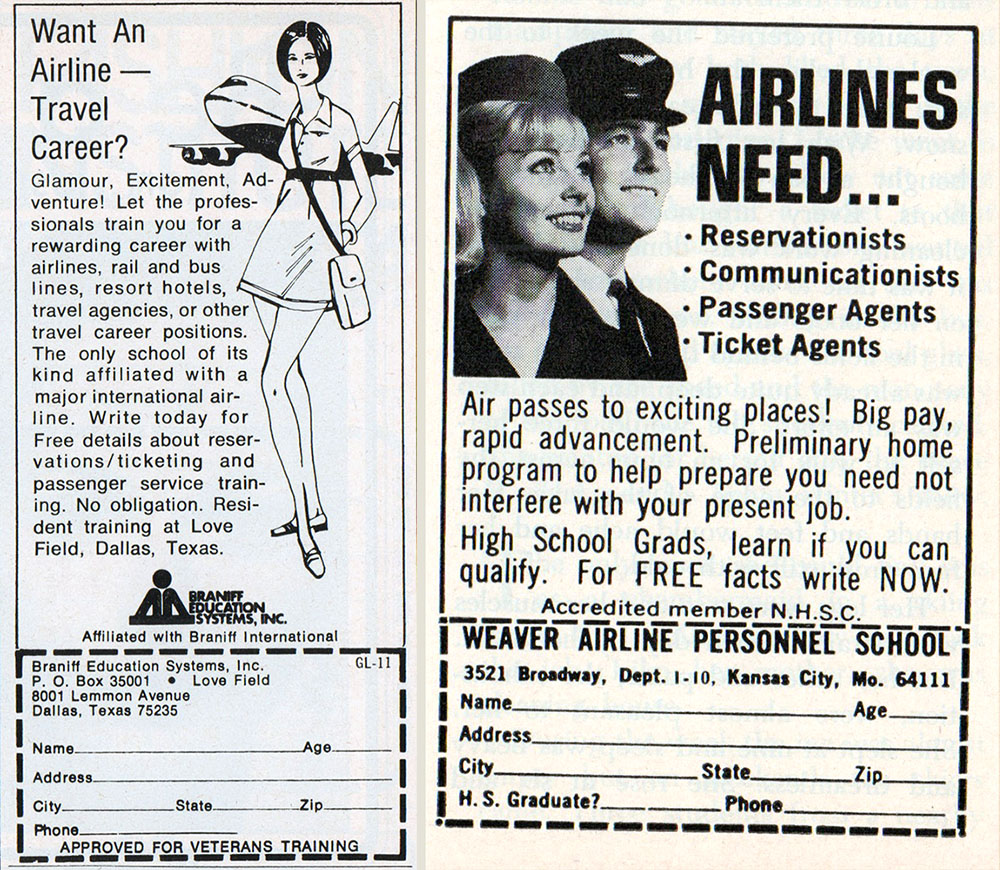One Source Travel Agent: Stewardess Or Secretary? Career Ads For Women In The 1960s