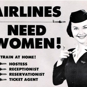 Stewardess or Secretary? Career Ads for Women in the 1960s and 70s