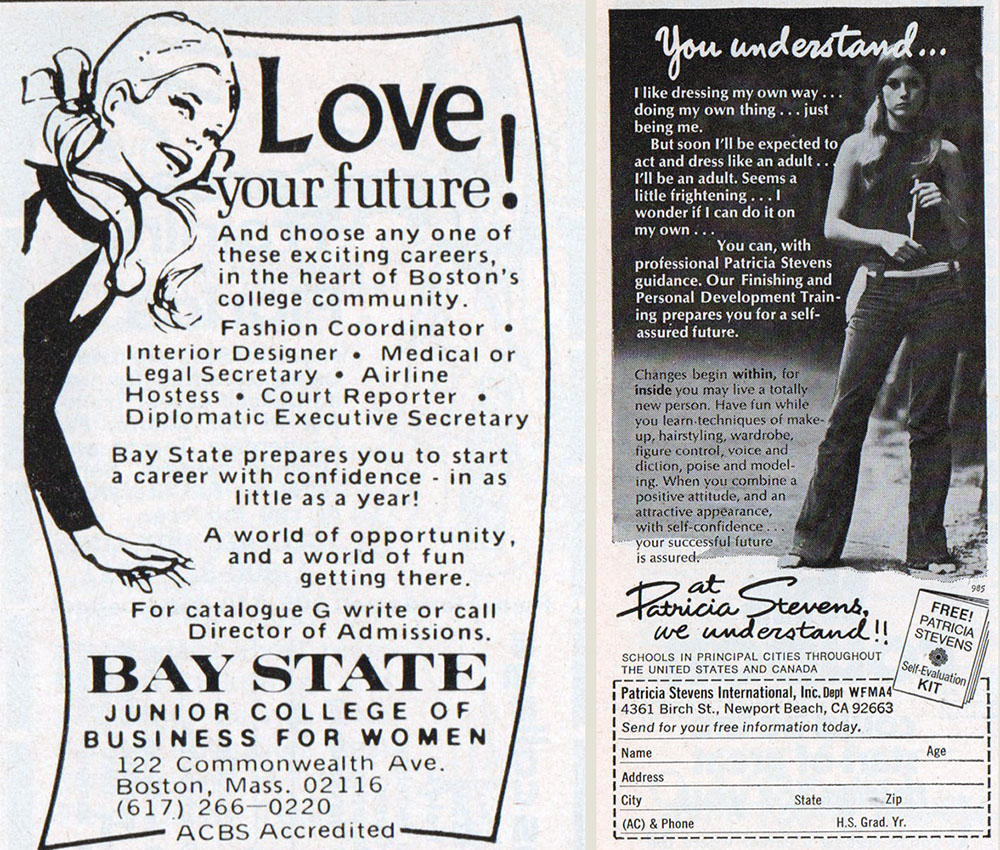Stewardess or Secretary? Career Ads for Women in the 1960s and 70s |