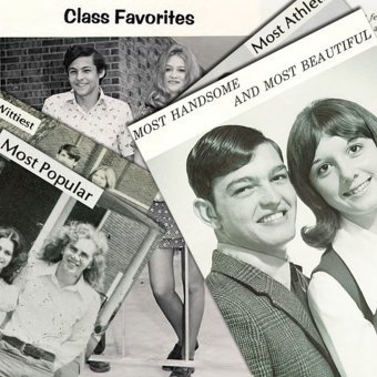 """Yearbook """"Class Favorites"""" from the 1970s"""