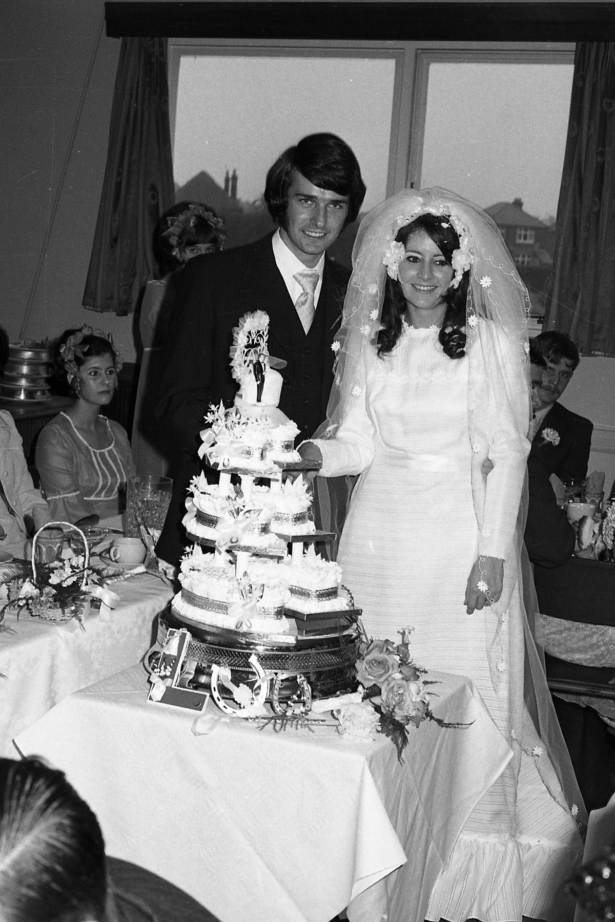 1972 wedding snapshots retro found