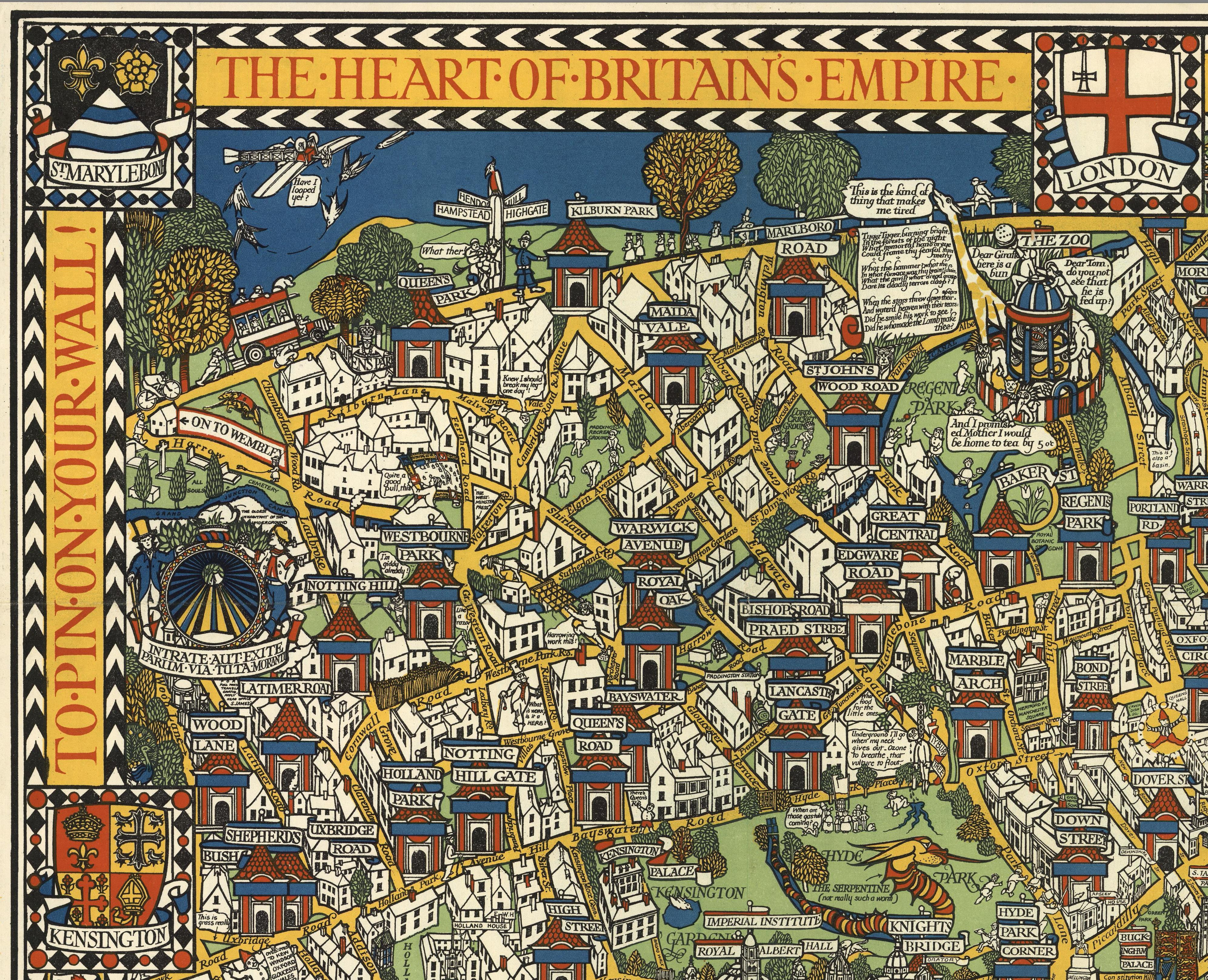 The Famous Wonderground Map of London Town