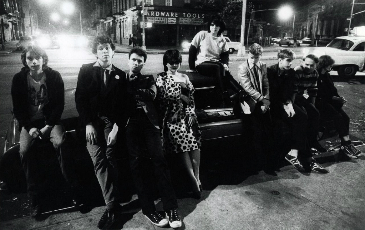 o wavers (which was a short-lived subculture for people who rejected the new wave musicart movement), waiting outside the club (1978).