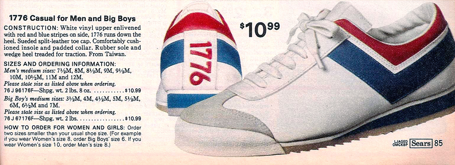 sears 1976 shoes