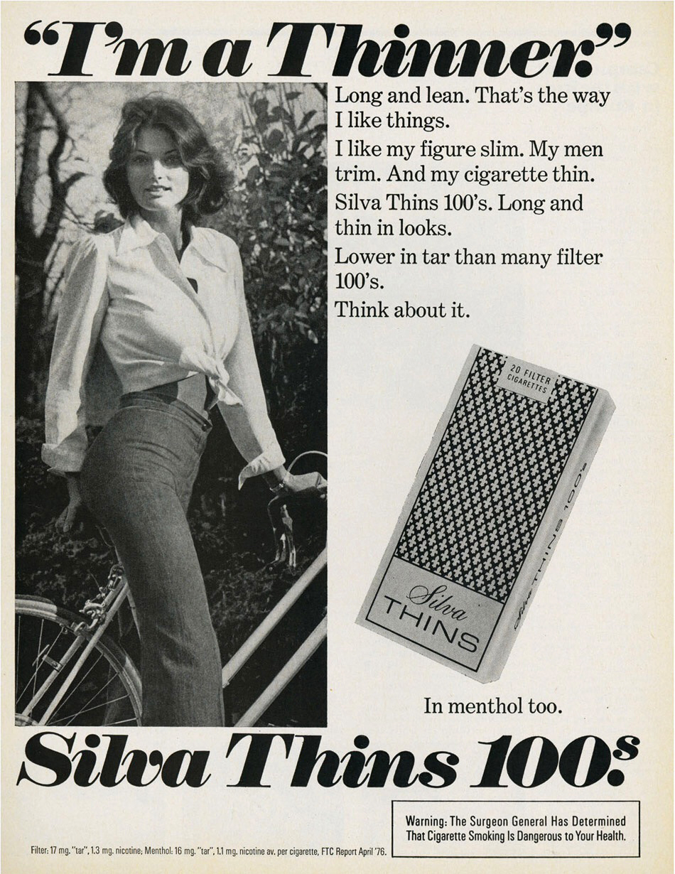 silva thins cigarette ad