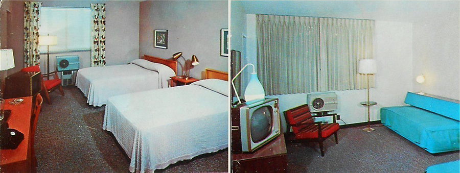 1960s Interiors Town & Country Motor Hotel Route 8 Old TV Cuyahoga Falls OH